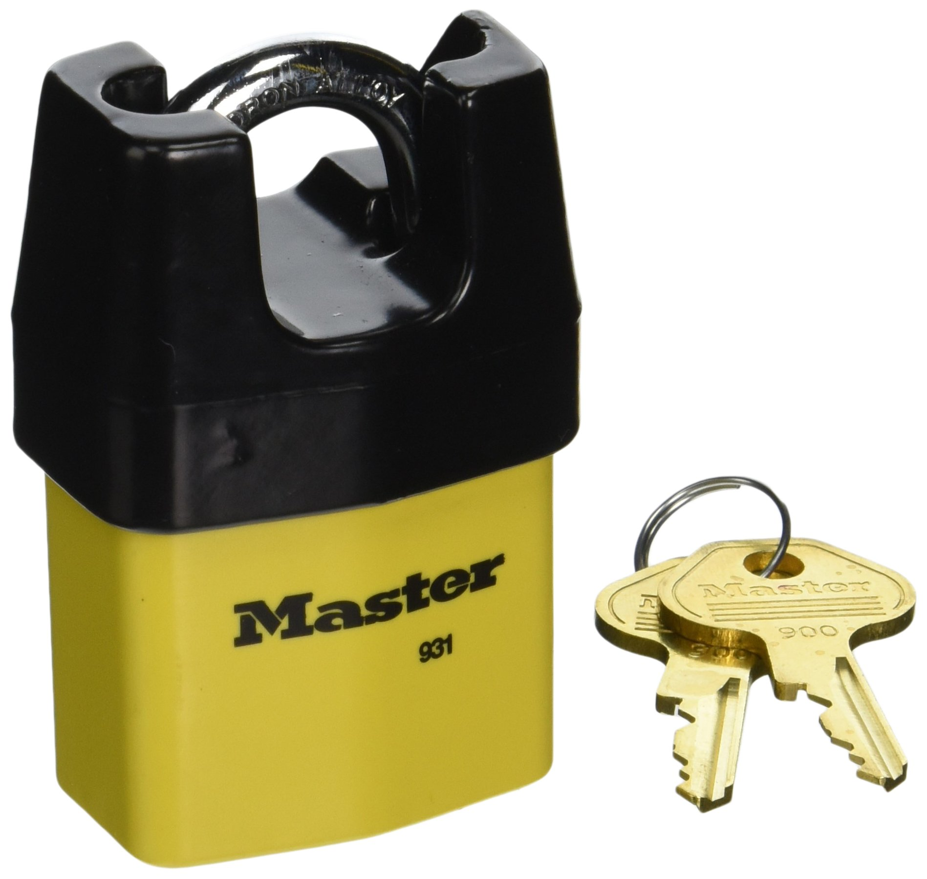 Master Lock 931DPF 2-1/8-Inch Wide Covered Laminated Steel Pin Tumbler Padlock