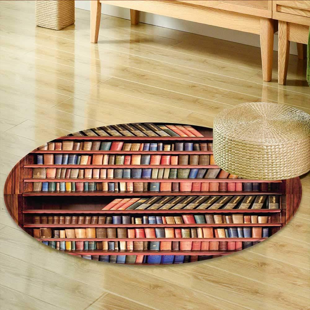 Amazon Com Non Slip Round Rugs Livres Anciens Sur Une