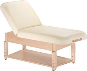 """EARTHLITE Stationary Massage Table SEDONA - Solid Hard Maple, Options for 3 Bases, 3 Tops, 6 Colors, Adjustable Height (28-32""""x73"""") - Made in the USA"""
