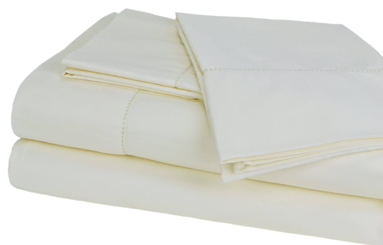 White Elite Home Products 655385350884 Elite Home Camden Collection 350-Thread-Count 100-Percent Egyptian Cotton Sateen Twin XL Sheet Set