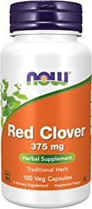 NOW Supplements, Red Clover (Trifolium pratense) 375 mg, Herbal Supplement, 100 Capsules