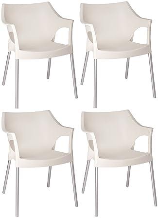 Resol Pole Gartenoutdoor Designer Kunststoff Aluminium Stühle