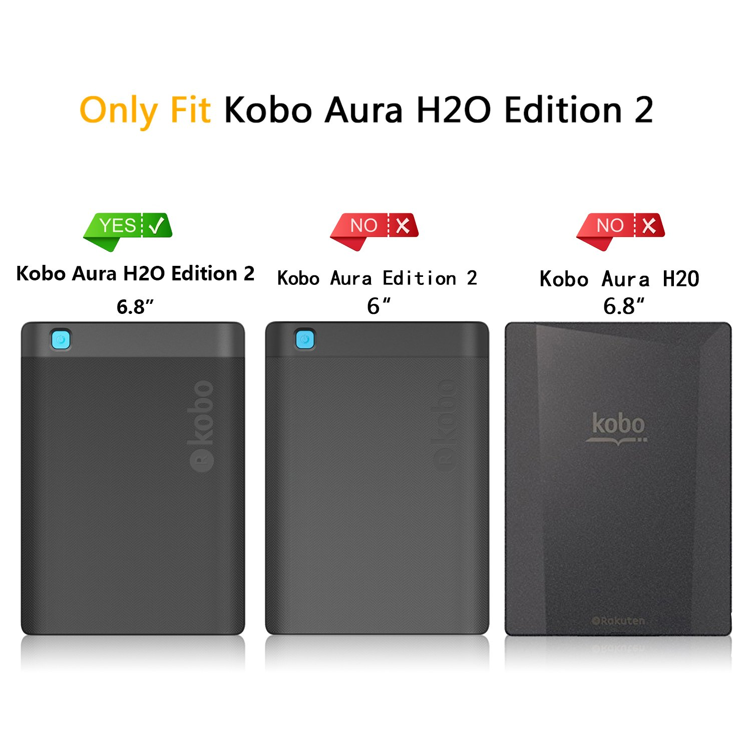 Momor Kobo Aura H2O Edition 2 Case - Ultra Slim Smart Tipo Libro ...