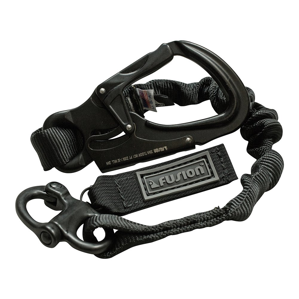 Fusion Tactical 4ft 48''x1'' Internal Bungee Elastic Sling Military Police Personal Retention Helo Lanyard with Snap Hook Shackle 23kN Black by Fusion (Image #6)