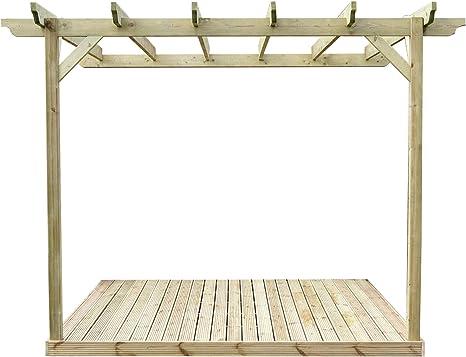 Montado en la pared Kit de Pergola de madera y cubiertas ...