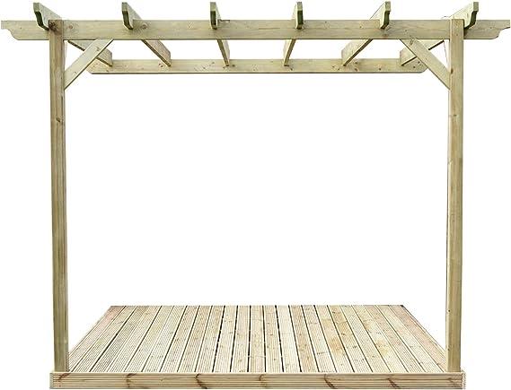 Montado en la pared Kit de Pergola de madera y cubiertas: Amazon.es: Jardín