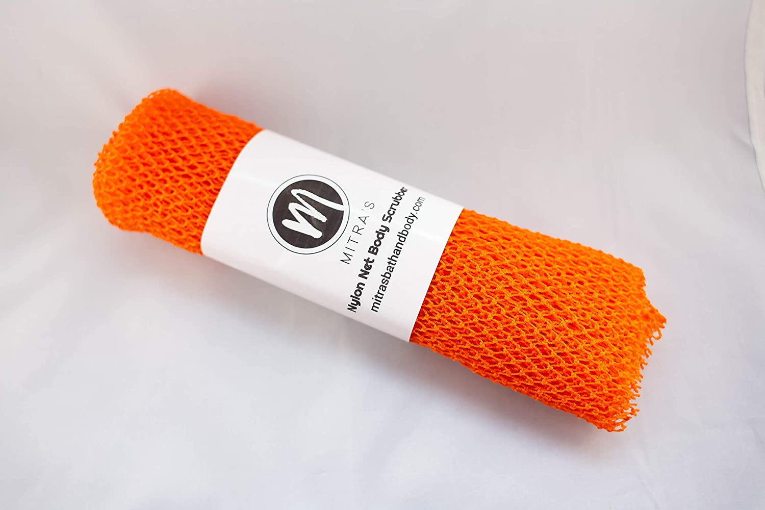 African Net Exfoliating Shower Body Scrubber/Exfoliating Back Scrubber/Skin Smoother/Great for Daily Use - Orange
