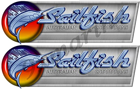 Amazon com: Two Sailfish Decals/Stickers for boat