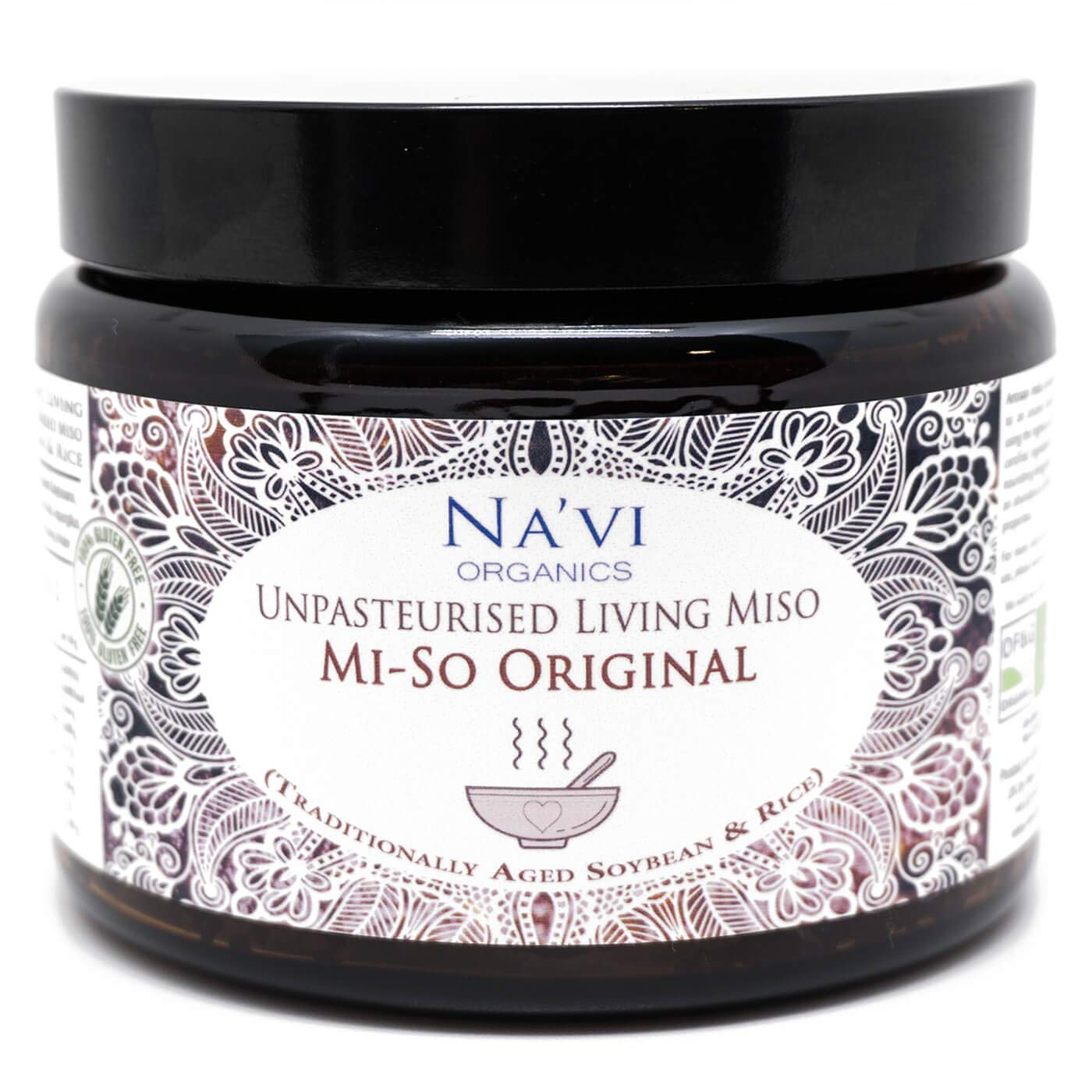Organic Traditionally Aged Rice & Soy Miso - Unpasteurised & Alive! (500g)