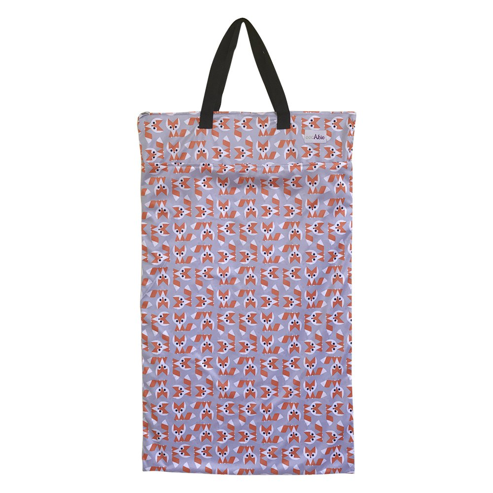 Large Hanging Wet Dry Bag for Cloth Diapers or Laundry (Fox)
