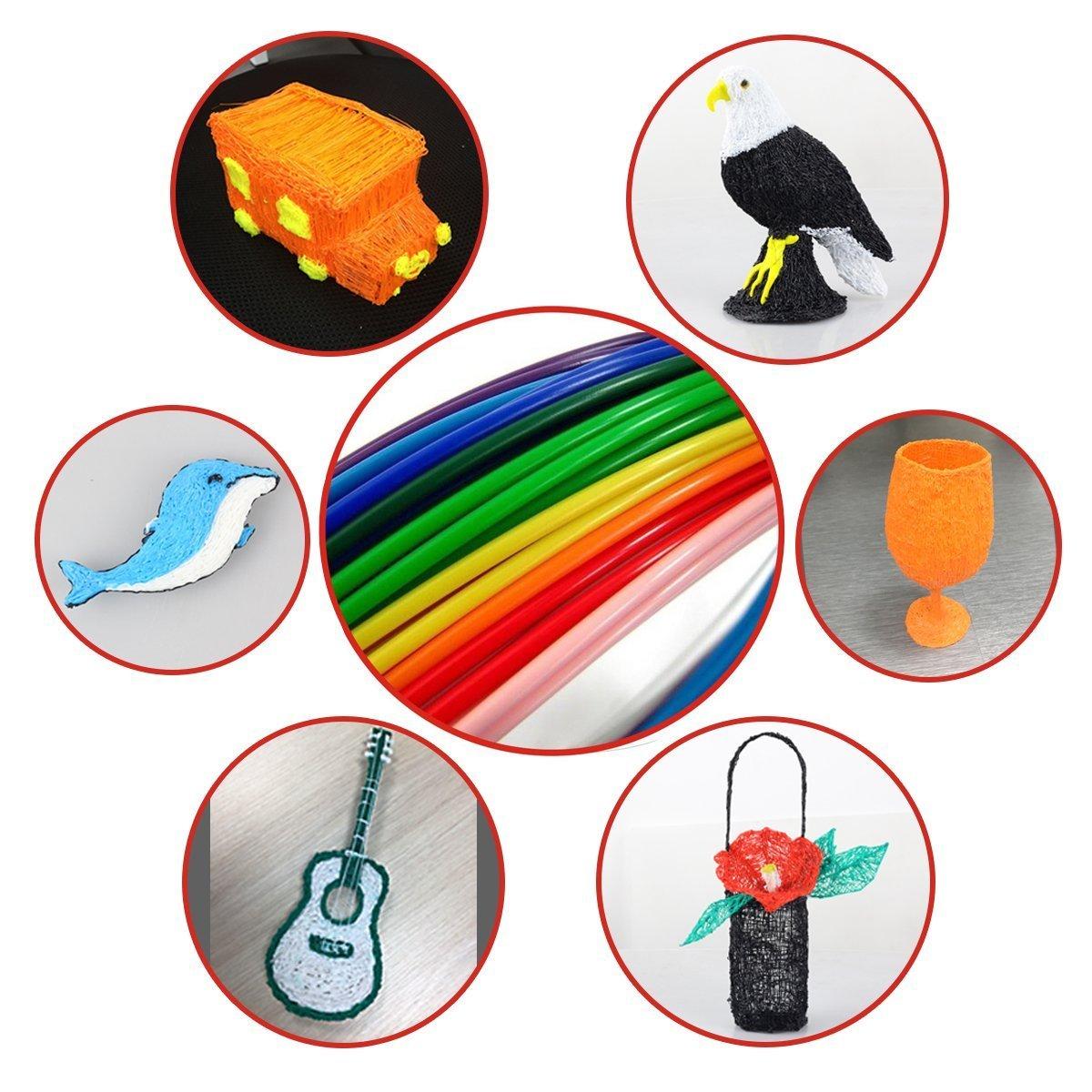 Zeichnung und Kunst /& handgefertigte Werke 3D Stift Set mit 1,75 mm PLA Filament f/ür Kinder 3D Druckstift Erwachsene Kritzelei Tipeye 3D Stifte f/ür Kinder mit LCD Display