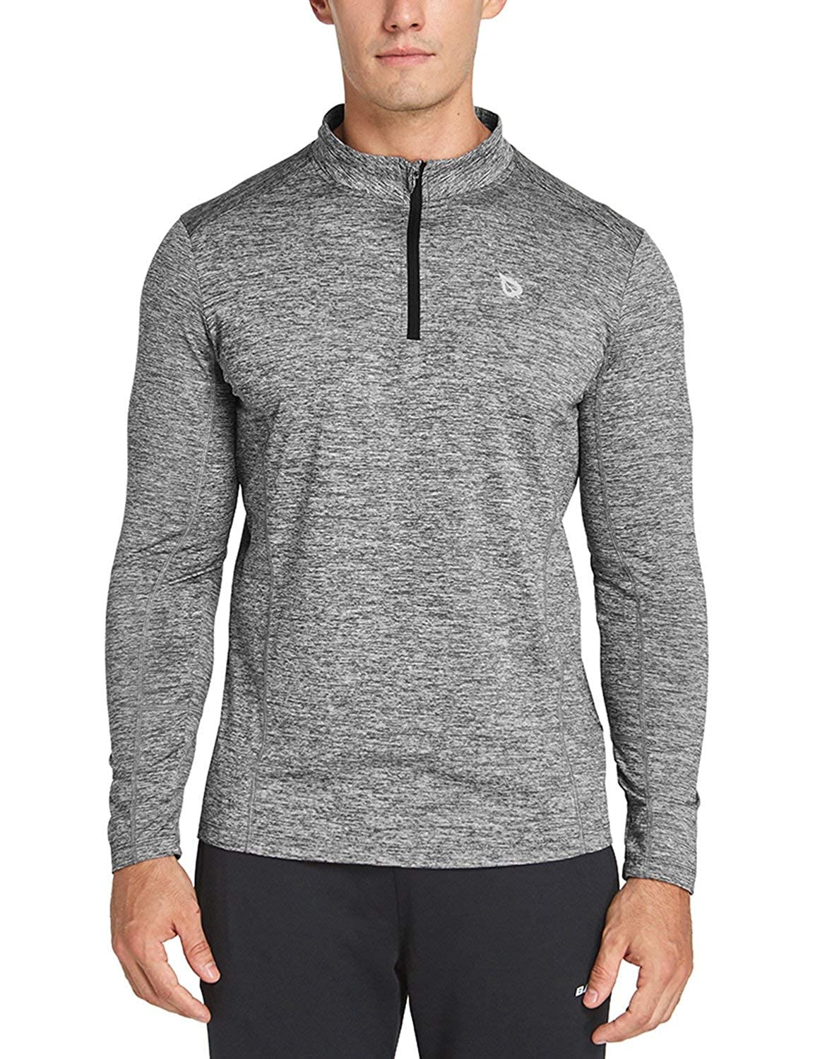 Baleaf Men's 1 4 Zip Pullover Thermal Running T Shirts Long Sleeve