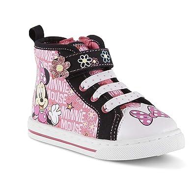 0449bab3472559 Disney Toddler Girls  Minnie Mouse High-Top Sneaker ...
