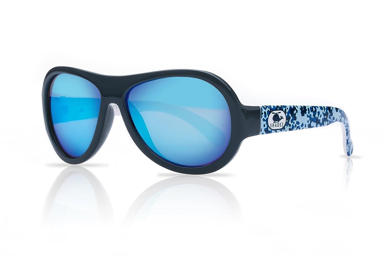 Shadez Jungen Sonnenbrille Shz 42, Blau (Blue), Small (Herstellergrö ß e: 3-7 Jahre) Shadez Helicopter Camo Blue Sunglasses