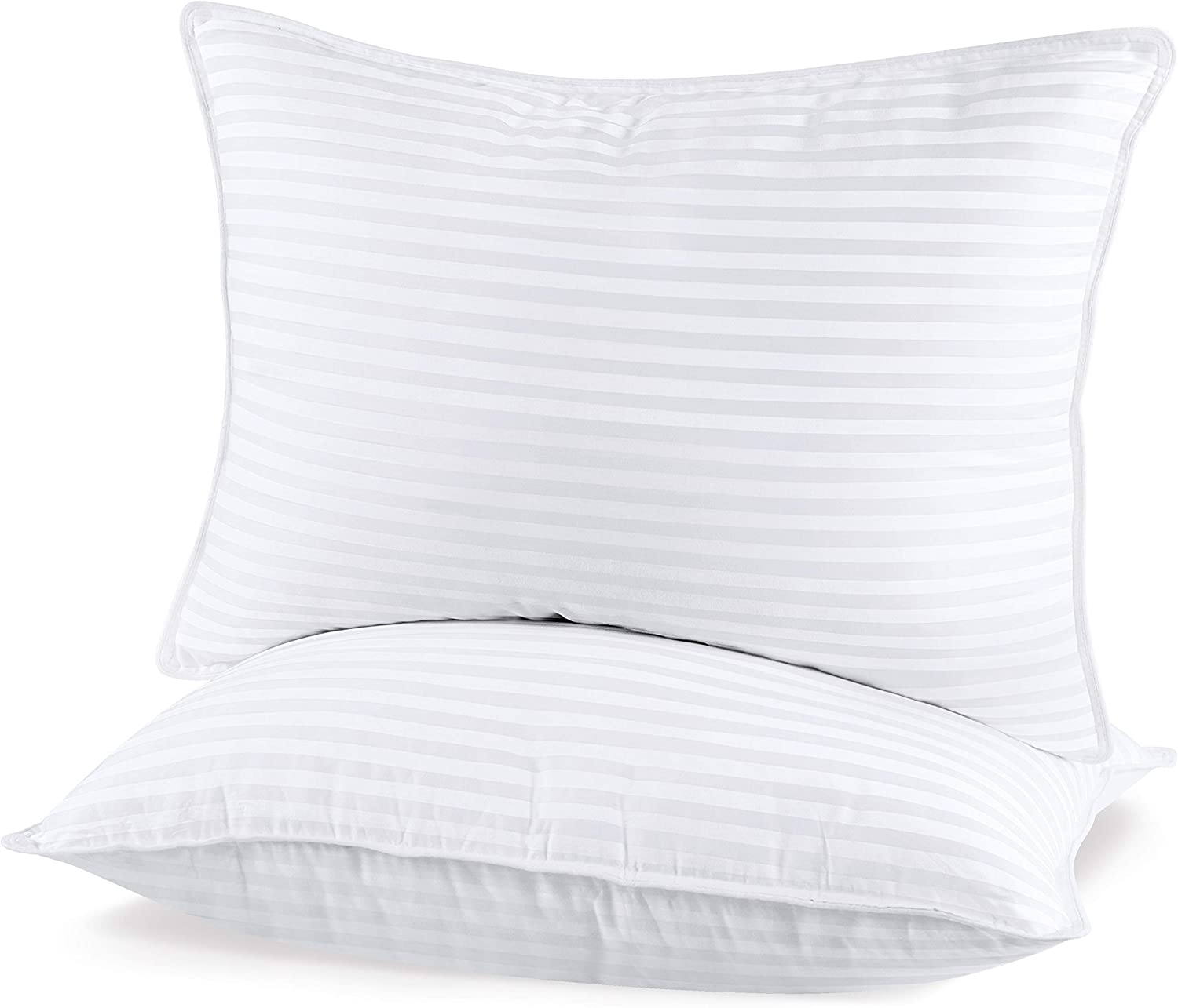 Utopia Bedding (2 Pack Premium Plush Gel Pillow - Fiber Filled Bed Pillows - King Size 20 x 36 Inches - Cotton Pillows for Sleeping - Fluffy and Soft Pillows