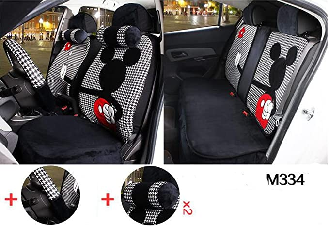 Remarkable Maimai88 1 Sets The New Plush Cartoon Car Seat Cover The Front And Rear Universal Seat Covers M328 M334 Forskolin Free Trial Chair Design Images Forskolin Free Trialorg