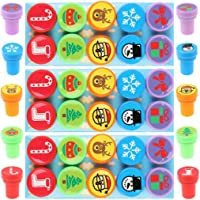 Ujuuu 30 Pieces Christmas Assorted Stamps 10 Different Self Ink Christmas Stampers Best Rubber Self Inking Holiday Stamp…