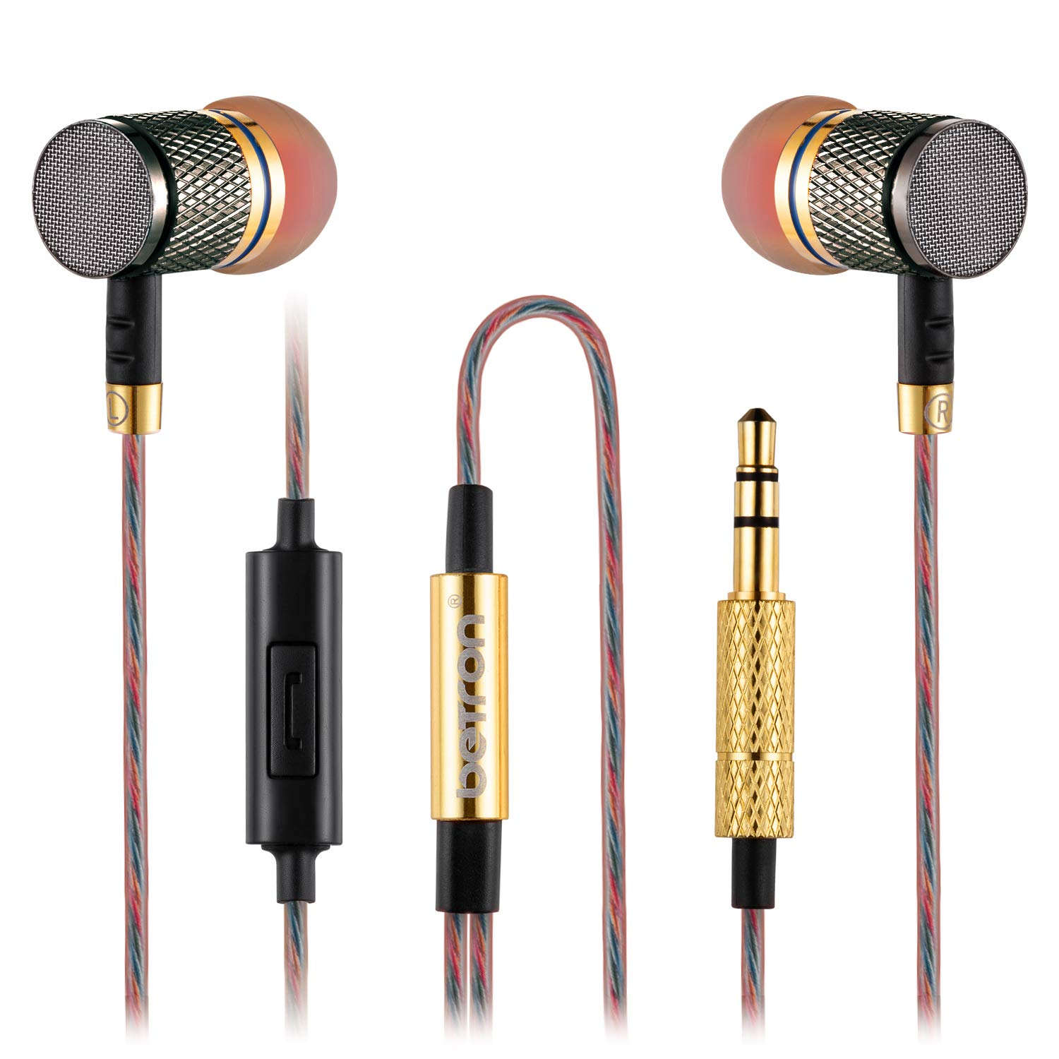 Samsung Galaxy HTC MP3 Players Noise Isolating Nexus in-ear Heavy Deep Bass for iPhone BlackBerry etc High Definition iPod Betron YSM1000 Earphones Headphones With Microphone iPad Nokia