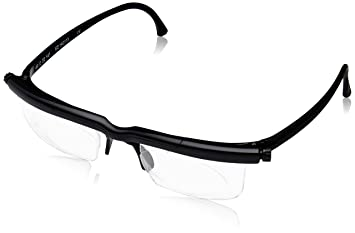 f074ac5f3ed8 Adlens Adjustable Variable Focus Eyeglasses (Black) Unisex Best Computer  Reading Driving Glasses Emergency Replacement