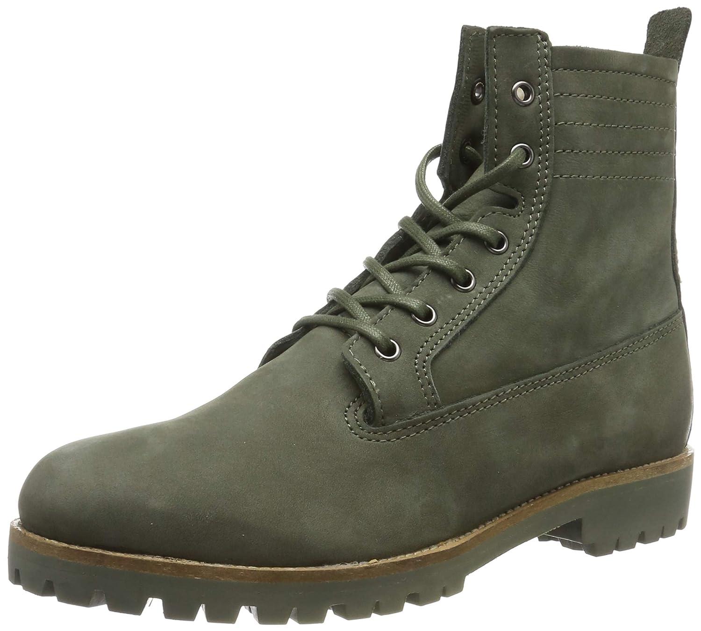Dark Green Blackstone Women's Lace-Up Sheepskin Boot - OL22