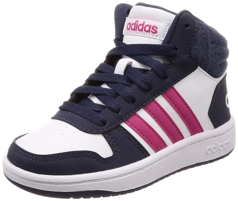 Girl's Adidas Hoops Mid Shoe
