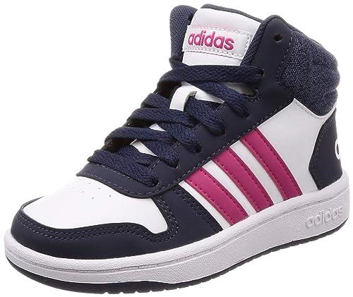 pretty nice 05e70 6c565 Adidas Hoops Mid 2.0, Scarpe da Basket Unisex-Bambini, Bianco FtwwhtReamag