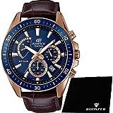 【セット】[カシオ] CASIO 腕時計 EDIFICE エディフィス クロノグラフ EFR-552GL-2Aメンズ &ROOSTER マイクロファイバークロス 15×15cm付き [並行輸入品]