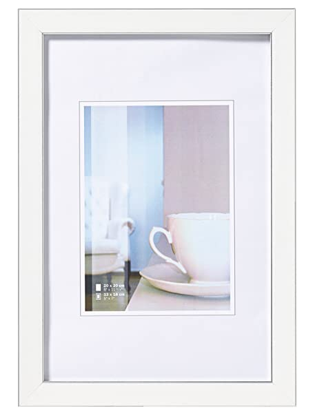Walther Ambience Frame, White, 13 x 18 cm: Amazon.co.uk: Kitchen & Home