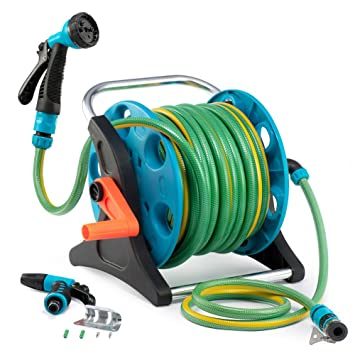 Amazoncom 50 Feet Garden Hose Reel Cart 1 Set for Home Garden
