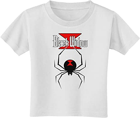 Amazon Com Black Widow Spider Design Logo Toddler T Shirt