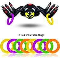 Yojoloin Globo Inflable Octopus Spider Rings Toss Juego