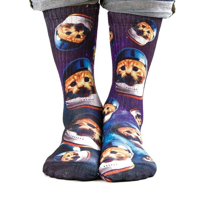 Samson® mano impreso 3d sublimación - Tubo de la tripulación calcetines gatos Odd moda calle Casual Calzado: Amazon.es: Ropa y accesorios
