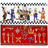 Kingdom hearts Sora keyblade Keychain Necklace Collection Box 2016