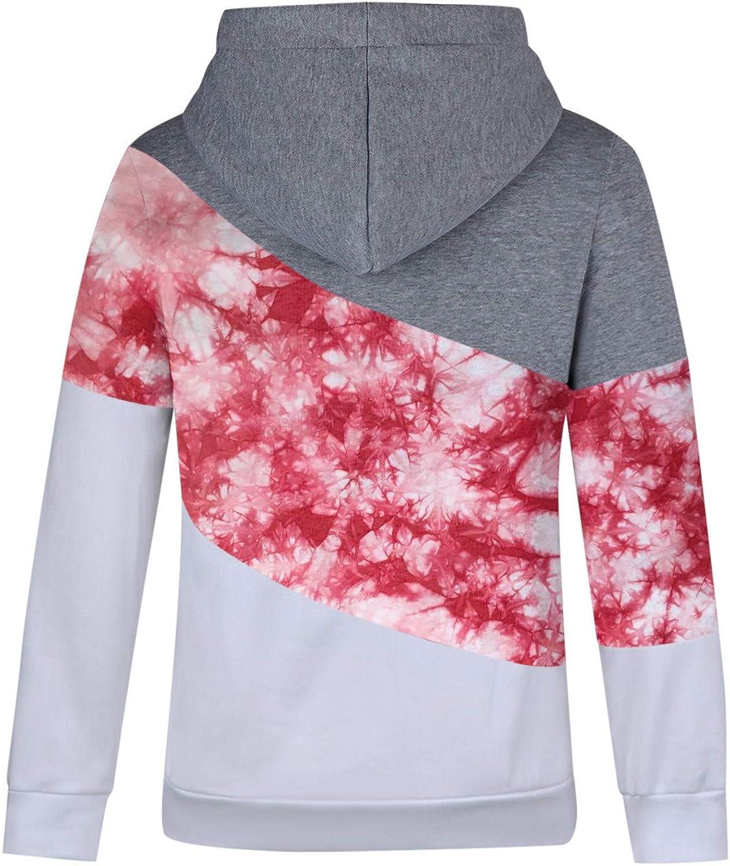 Women Color Block Fall Hoodie Sweatshirts Warm Basic Womens Hoodie Pullover POLLYANNA KEONG Womens Hoodies Pullover