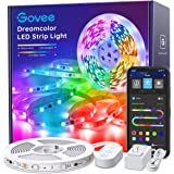 LED Strip Lights RGBIC, Govee 16.4FT Bluetooth Color Changing Rainbow LED Lights, APP Control with Segmented Control…