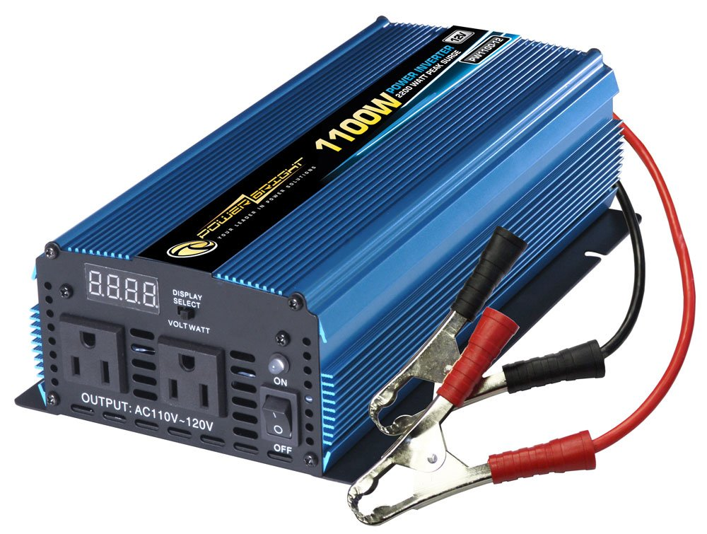 Power Bright PW1100-12 Power Inverter 1100 Watt 12 Volt DC To 110 Volt AC