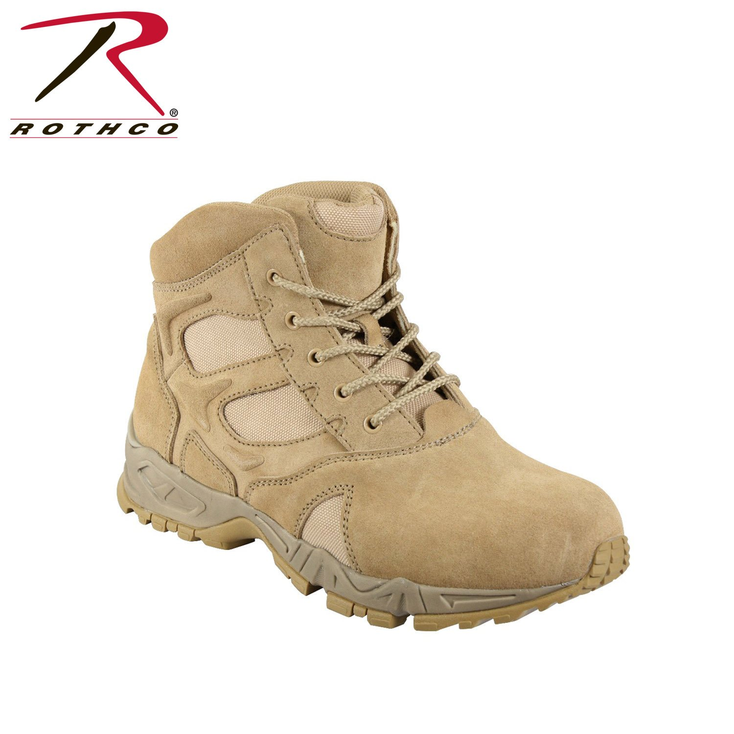 "Desert Forced Entry Deployment Combat Tactical 6"" Boots, Size 10W"