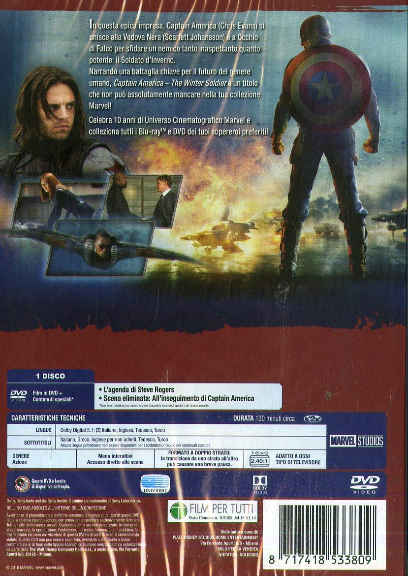 Captain America - The Winter Soldier Edizione Marvel Studios ...