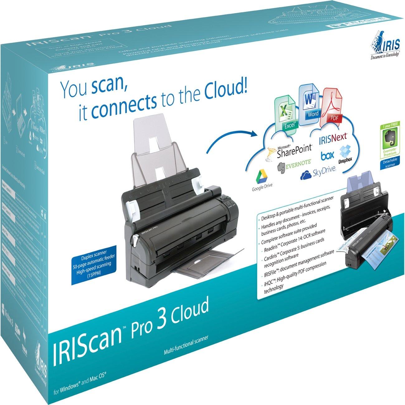 Amazon.com: IRIScan Pro 3 Cloud Portable Color Scanner: Electronics