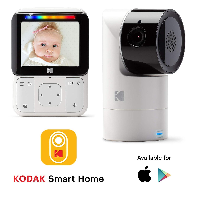 KODAK CHERISH C225 Video Baby Monitor - Tilt/Pan/Zoom Camera, 2.8 HD Screen, Hi-res Camera, Remote Zoom, Two-way Audio, Night-vision, Long Range, WiFi, Mobile App 2.8 HD Screen Cinatic Technology LTD