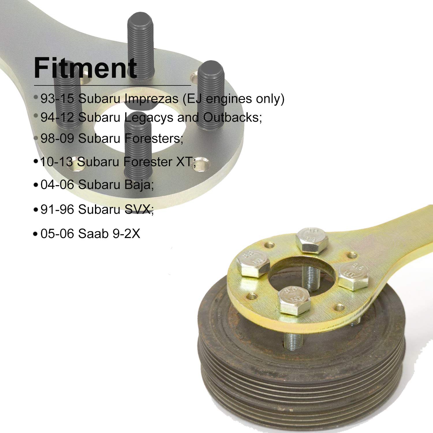 Yoursme Crank Pulley Tool Wrench Holder Kit for Subaru Imprezas Foresters XT Legacy Outback Baja SVX Saab 9-2X by Yoursme (Image #4)