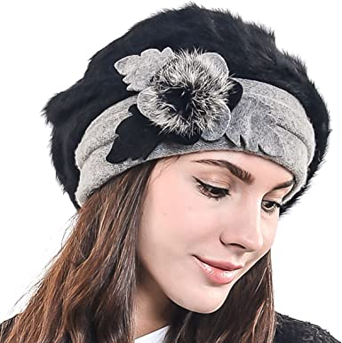 Women Girls Pop Plain Beret Hat French Beret Winter Wool Fashion Hats