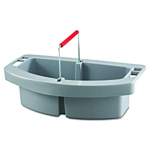 Rubbermaid Commercial 2649GRA Maid Caddy, 2-Comp, 16w x 9d x 5h, Gray