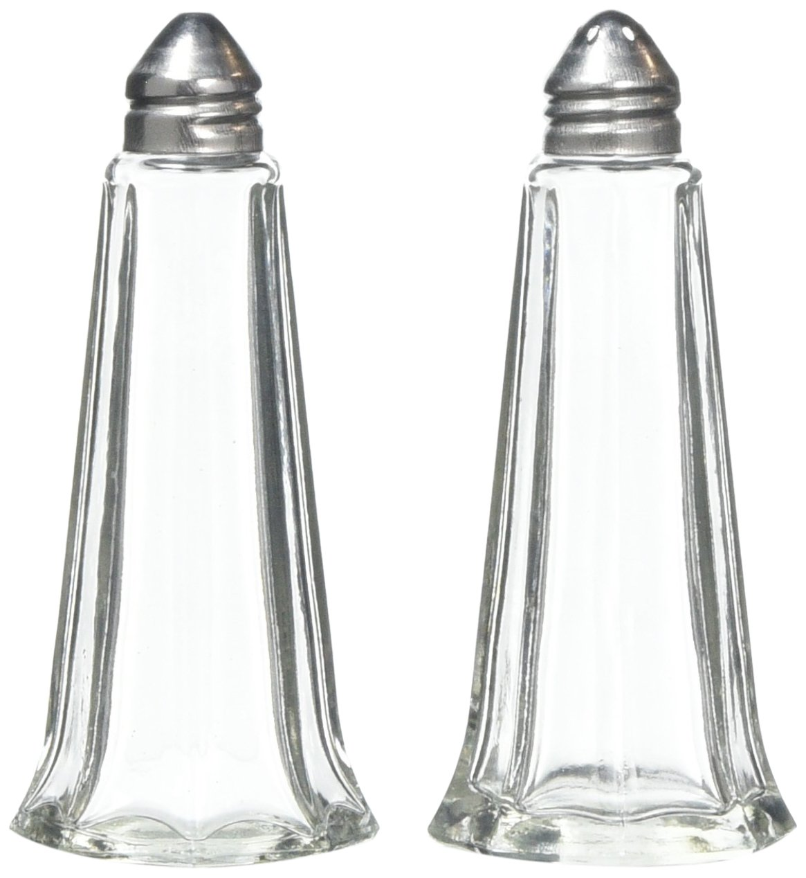 KitchenCraft Classic-Style Glass Salt and Pepper Shakers, 11.5 cm (4.5
