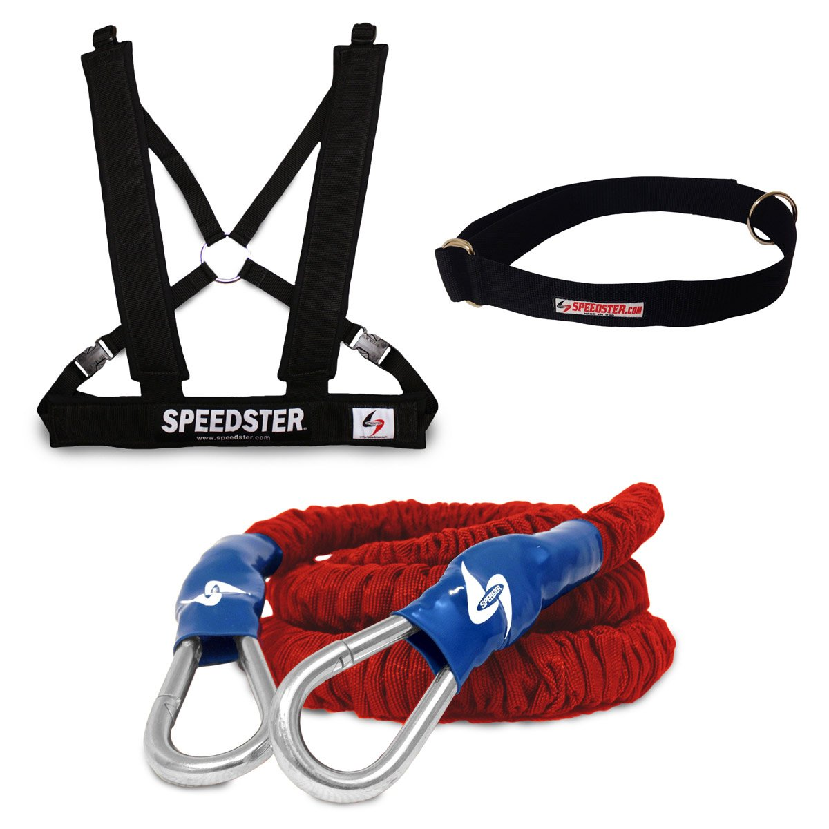 SPEEDSTER Rocket Single Overspeed Trainer HEAVY RESISTANCE 30' COVERED CORD WITH PADDED SHOULDER HARNESS AND WAIST BELT