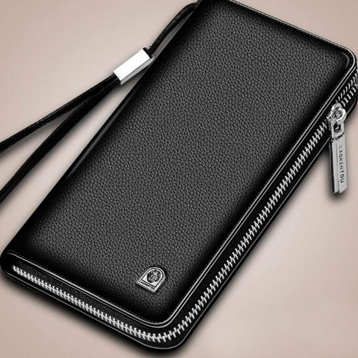 Large Travel Wallet Handbag Mens Boxed Gift Color : Brown 1 Kalmar RFID Travel Wallet Stealth Mode Mens Zipper Wallet Clutch Bag Card Package Extra Capacity Travel Wallet