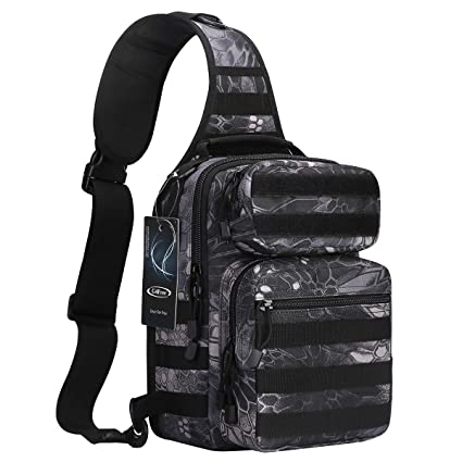 G4Free Outdoor Tactical EDC Molle Sling Backpack Military Hiking Sport Chest Bag