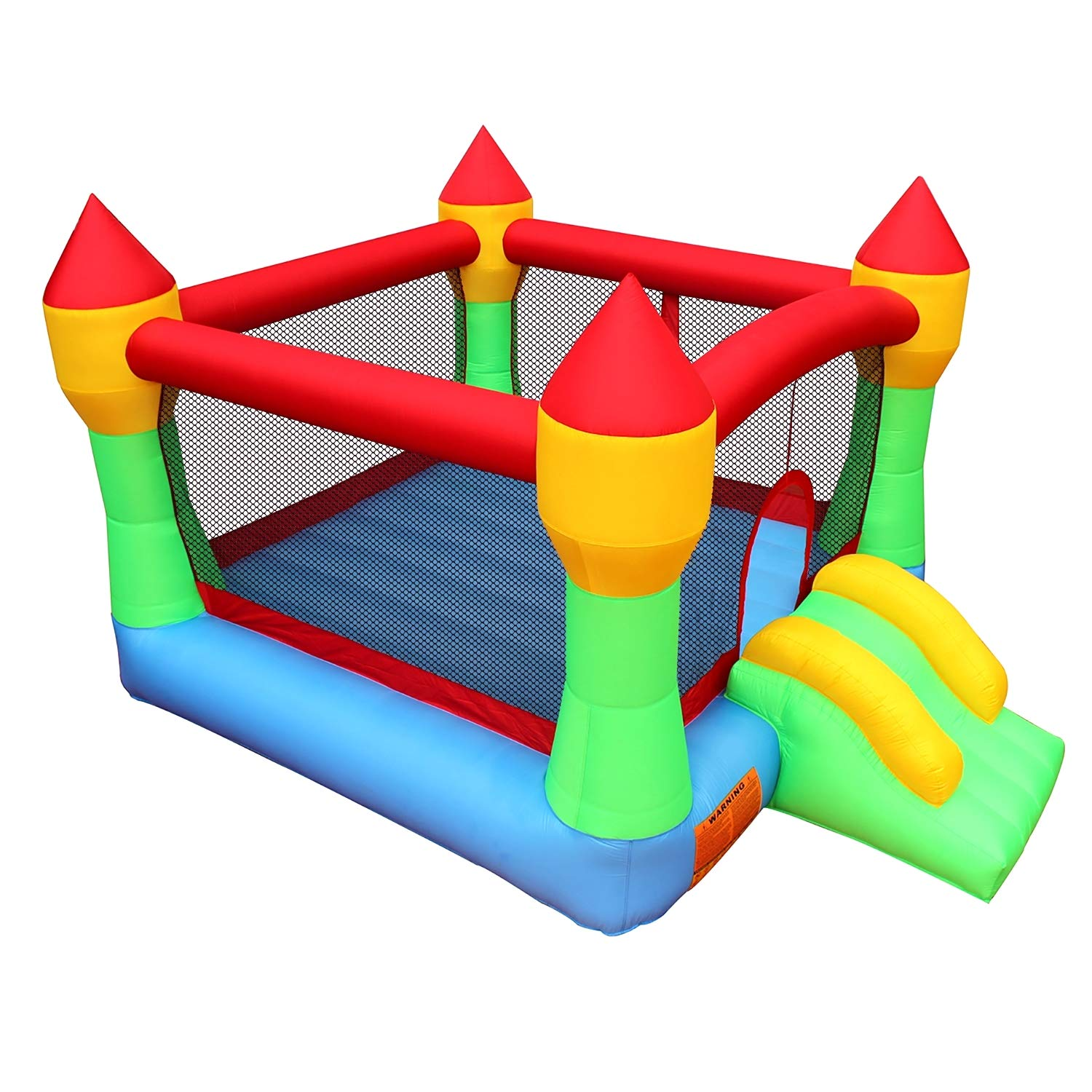 BestParty Inflatable Bounce House Castle Jumper Moonwalk Slide Inflatable Jumping Bouncy House with Blower by BestParty (Image #3)