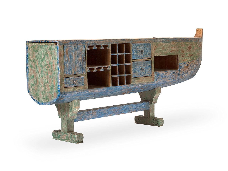 Massivum 10021620 Bartresen Holika Holz, bunt, 50 x 295 x 119 cm