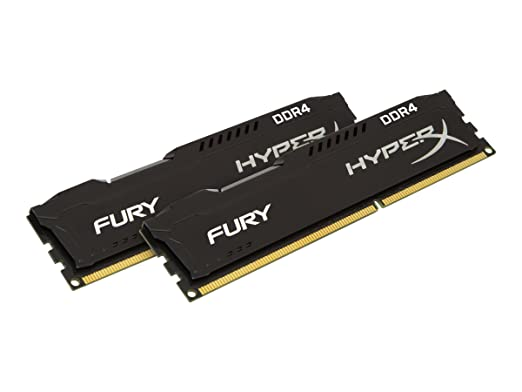HyperX Fury 2400MHz DDR4 Non-ECC CL15 DIMM 16 DDR4 2400 MT/s (PC4-19200) HX424C15FBK2/16 Memory at amazon
